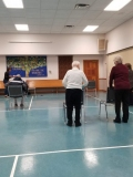 Anne and Bonnie doing standing exercises!